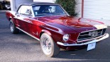 Ford Mustang Cabriolet 1967 3-4 AVD Capote